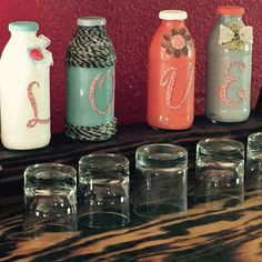 Items similar to Love Bottles on Etsy - Bottles Craft 5 Snapple Bottle Crafts, Diy Bottle, Bottle Art, Crafts To Make, Fun Crafts, Arts And Crafts, Altered Bottles, Craft Items, Recycling