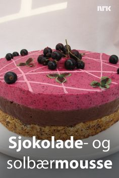 no – nyheter, tv og radio fra Norge og hele verden Pudding Desserts, No Bake Desserts, Dessert Recipes, Norwegian Food, Sweets Cake, Mousse Cake, Fancy Cakes, Gluten Free Recipes, Deserts