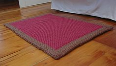 "28"" Authentic Knitting board - Jasmine Rug    Beautiful rug to accent your home - Very thick with warm, rich colors"