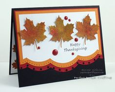 Paper Scaper: Thanksgiving Leaves
