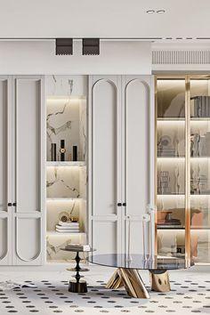 Modern Classic Interior, Luxury Interior, Interior Architecture, Neoclassical Interior, Wardrobe Door Designs, Ideas Geniales, Interior Decorating, Interior Design, Cabinet Design