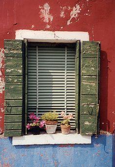 Burano Window, via Flickr.