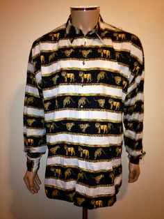 Vintage 90s Authentic VERSACE Lions and Cheetah by FisforFRESH, $195.00