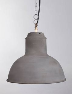 nordic pendant grey cement two sizes by horsfall & wright | notonthehighstreet.com