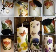 Comment décorer une bougie avec des fleurs séchées