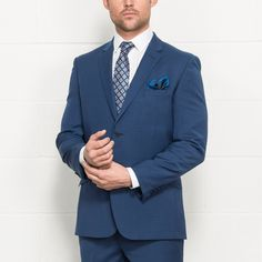 "TED BAKER ""Arundel"" Bright Blue Wool Mix Suit - Tailored Fit Suits - Mens Suits - Suits & Tailoring 