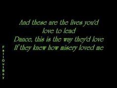 FALL OUT BOY - Dance Dance LYRICS