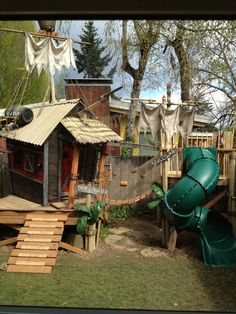 Pirate Hideout and Play Tower by TinyTownStudios on Etsy