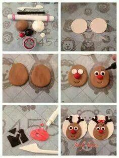 Cupcake reno de fondant