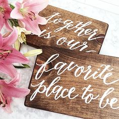 Love signs hand lettered by Laura Hooper Calligraphy