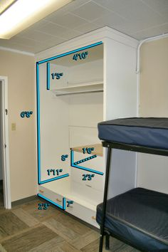 Moen | Greaves | Reeder Halls - Closet Dimensions