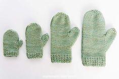 Almond Latte Knitted Mitten Pattern - free! ExpressionFiberArts.com