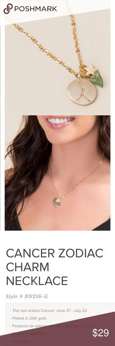 Cancer zodiac charm necklace Cancer zodiac charm necklace June 21-July 22 Francesca's Collections Jewelry Necklaces