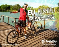 Para quem ama pedalar!  Foto: Passeio Lobo Guará - Bonito/MS  #euamopedalar