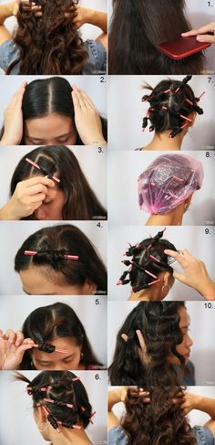 Curl Hair With Drinking Straws. You Can Do It 2. http://www.zazzle.com/posters?rf=238594074174686702