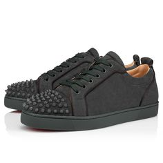Red Sole, Christian Louboutin Shoes, Spikes, Grosgrain, Online Boutiques, All Black Sneakers, Casual Shoes, Men's Shoes, Tennis