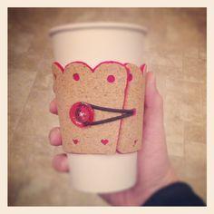 Next MOPS craft...coffee coziness. :)  Photo by platzphoto
