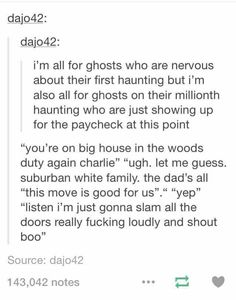 Ghost haunting au
