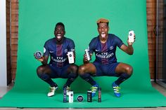 Jean Kevin Augustin and Presnel Kimpembe at the worshop for NIVEA X PSG