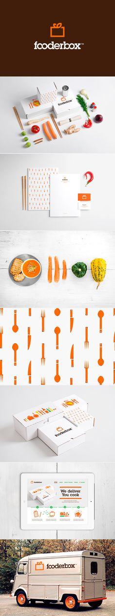 Unique Branding Design, Fooderbox #branding #design (http://www.pinterest.com/aldenchong/)