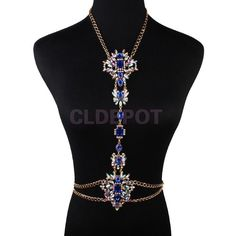 Women's Clothing. Women's Accessories. Hair Flower. Blue rhinestone and statement choker flower pendant showing your womanliness. Body Chain Jewelry Bikini Waist Silv. 1 x Sexy Bikini Body Chain. Sexy Lady Body Chain Jewelry Waist T. | eBay!