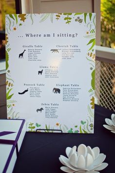 Animals Ideas. Great if your having the reception at a Zoo.   Visit us @ www.brides-book.com