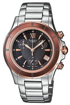 060e3c4cbccb Ladies Sheen Rose Gold Chronograph Watch Our Price  TimeCentre Online is an  Authorised Casio UK Retailer