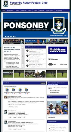 One of our larger Rugby clubs: Ponsonby Rugby Football Club