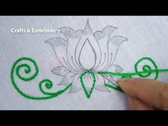 Hand Embroidery, Easy Embroidery Design for Dresses, Flower Embroidery Tutorial - YouTube