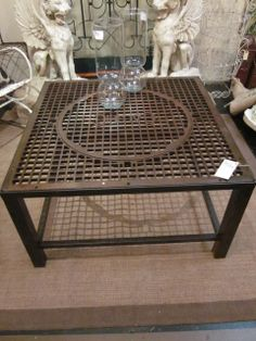 Table I Made From Old Floor Furnace Grate Things I Have