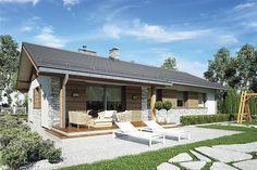 Atrium, House Plans, New Homes, Home And Garden, Exterior, Cabin, How To Plan, Studio, Outdoor Decor