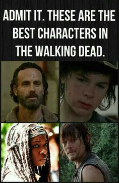 I agree. But I also love Glenn and Maggie. Beth is coming along nicely. Carol, for all her faults, has developed so strongly as an individual and fighter. I like the newer characters also. In sum, The Walking Dead is awesome