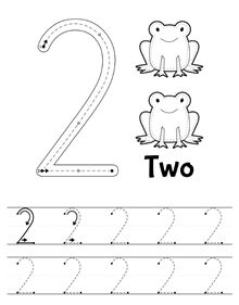 New tracing worksheet: Number 2. Download, print and trace // Nueva ficha de…