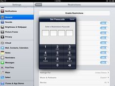 Setting restrictions on a classroom set of ipads