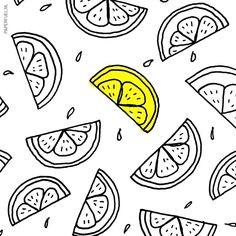 Pattern citrus #drawing #lime #illustration #pattern #paperfuel