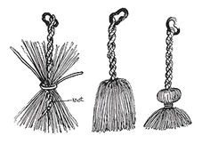 Construction of a tassel. Amazing page about medieval clothing etc.