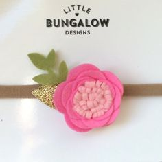Felt Flower Headband // Rose Headband // by LittleBungalowDesign