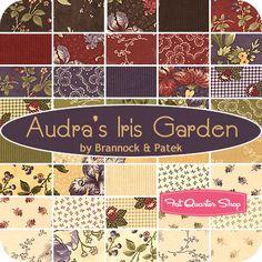Audra's Iris Garden Fat Quarter Bundle Brannock & Patek for Moda Fabrics - Fat Quarter Shop