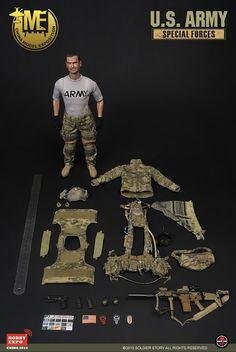 onesixthscalepictures: Soldier Story US Army Special Forces China Hobby EXpo Exclusive) : Latest product news for scale figures Sas Special Forces, Military Action Figures, Green Beret, Expo 2015, Military Gear, Airsoft, Kids Toys, Weapons, Artworks