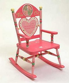"""Features:  -Complete with actual timer you can set for up to 15 minutes.  -Pink wood finish.  Product Type: -Chair.  Frame Material: -Wood. Dimensions:  Overall Height - Top to Bottom: -28"""".  Overall"""