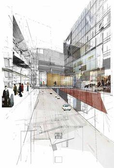 42 creative ways architectural collage - Architecture Croquis Architecture, Collage Architecture, Architecture Design, Architecture Graphics, Architecture Student, Gothic Architecture, Amazing Architecture, Landscape Architecture, Architecture Drawing Plan