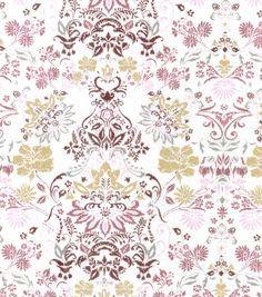 Buttercream™ Elizabeth Collection Cotton Fabric-Medallion Metallic