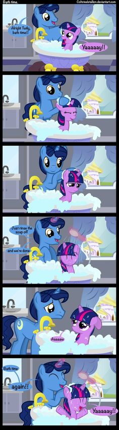 Bath time. by Coltsteelstallion on deviantART