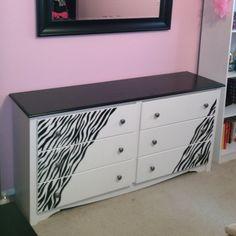 Zebra dresserig girl room ideas b