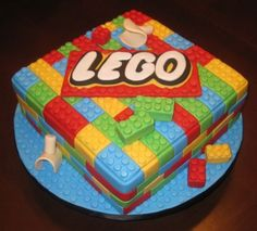Ian's Lego Cake By natskys on CakeCentral.com