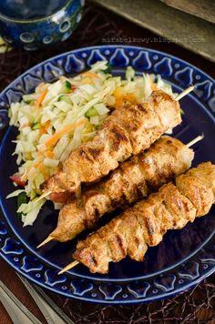 Mirabelkowy blog: Szaszłyki tikka z kurczaka Tandoori Chicken, Grilling, Food And Drink, Dinner, Ethnic Recipes, Blog, Barbie, Diet, Food
