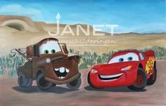 Cars-canvas-Bliksem-Takel