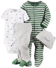 Carter's Baby Boys' 4-Piece Dinosaur Layette Set - Kids & Baby - Macy's
