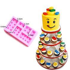 Lego Style Silicone Cake Fondant / Chocolate / Ice Mold