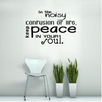 In the noisy confusion of life
